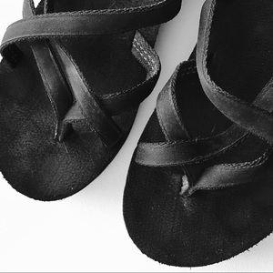 Teva Shoes - Teva Black Wedge Sandals Size 8 EUC